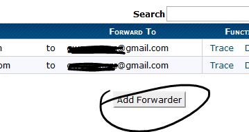 Email Forwarder setup